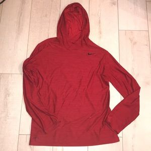 Nike drifit red pullover sweater Medium long sleev